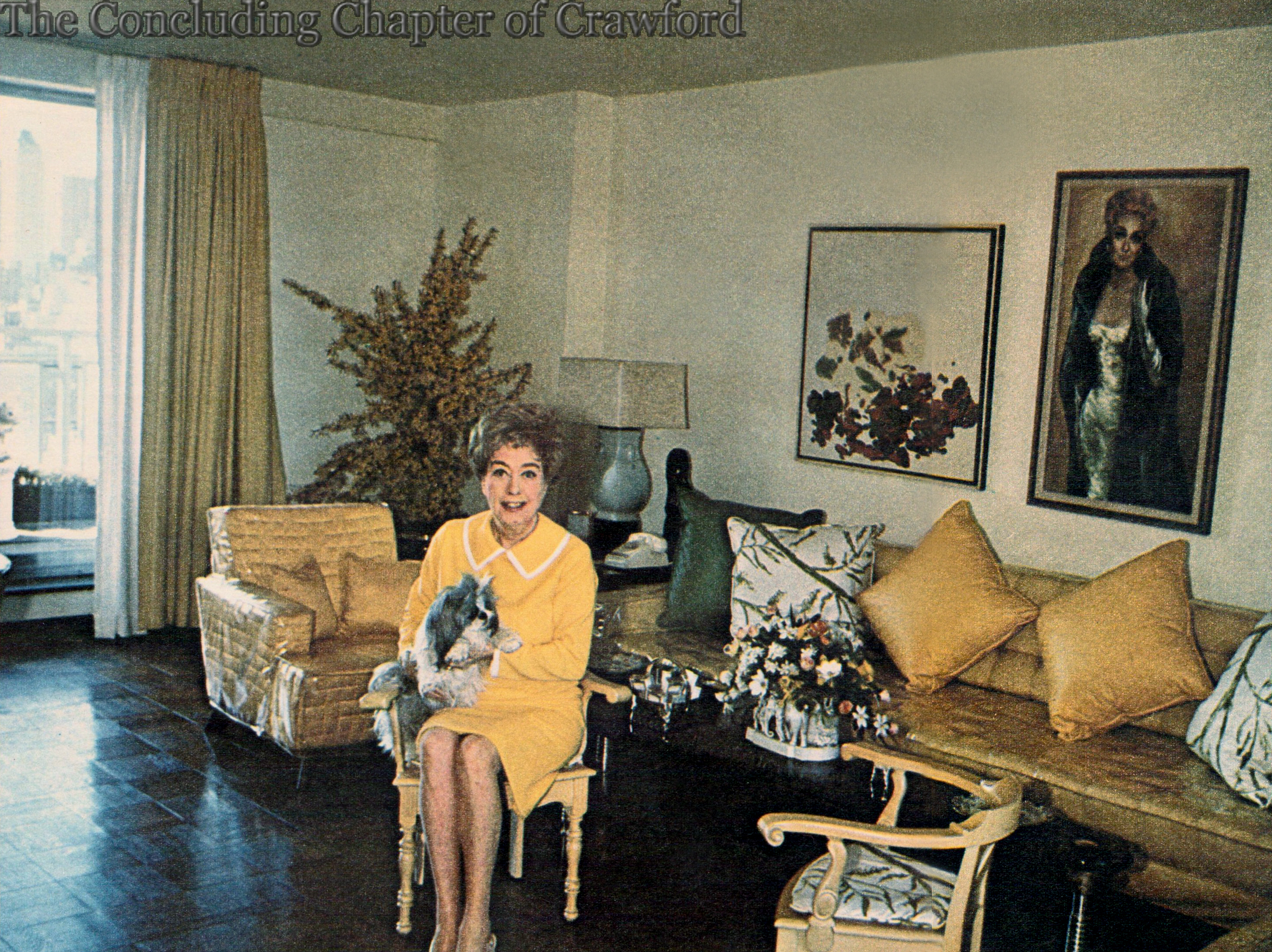 Image result for Joan Crawford living room photos