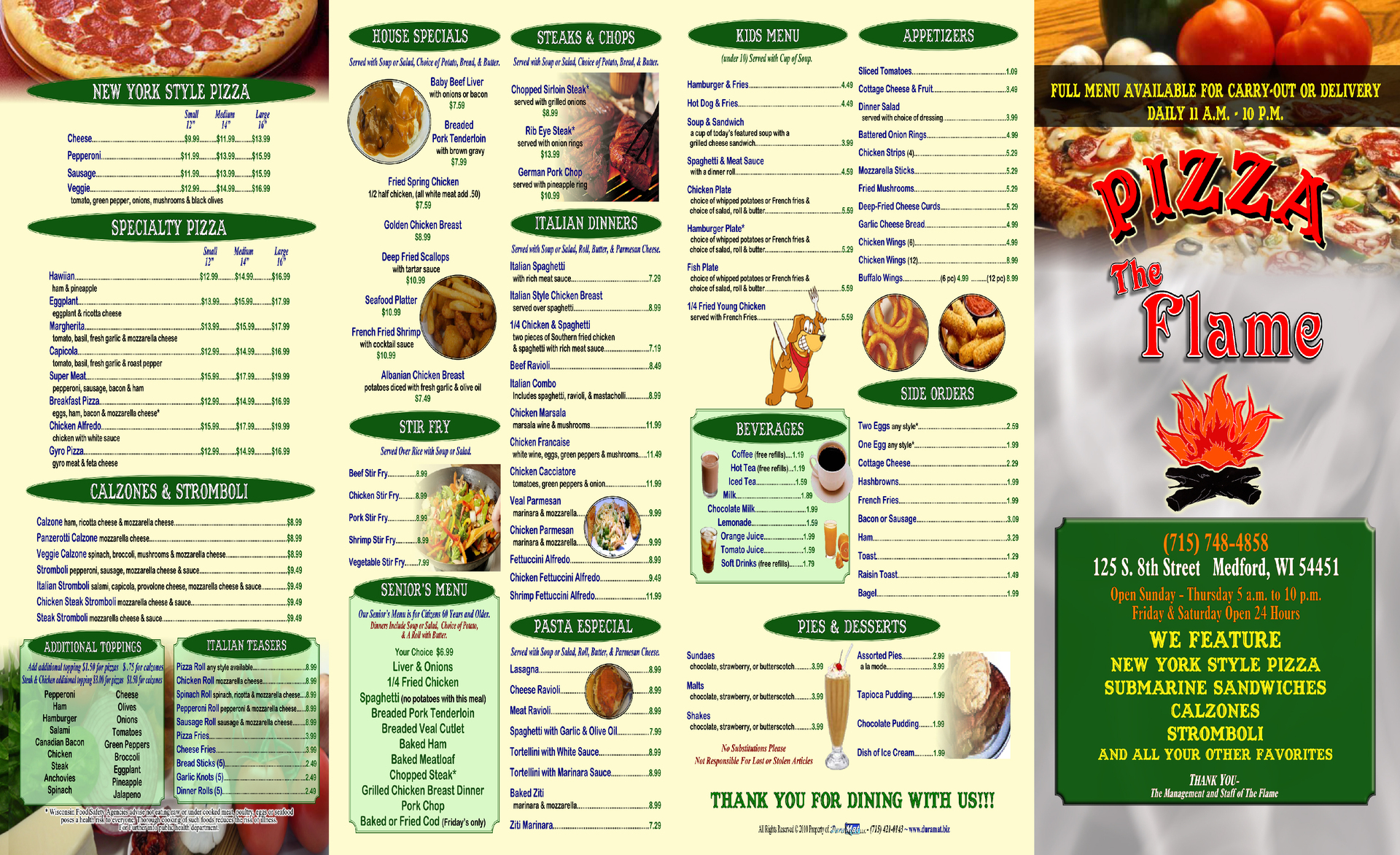 Carry out menus for Carryout menu