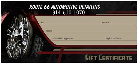 Gift Certificates - Automotive gift certificate template