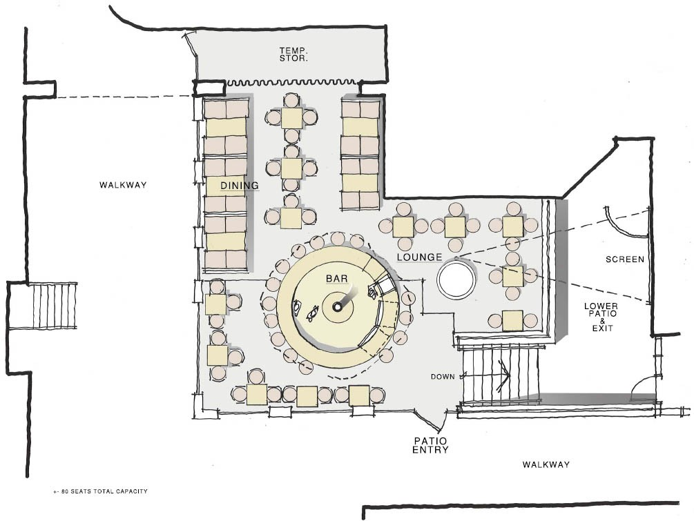 Foundation Bar Patio Plan Layout, Ottawa ON