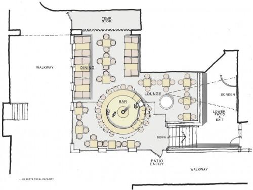 Foundation Bar Patio Plan Layout, Ottawa ON