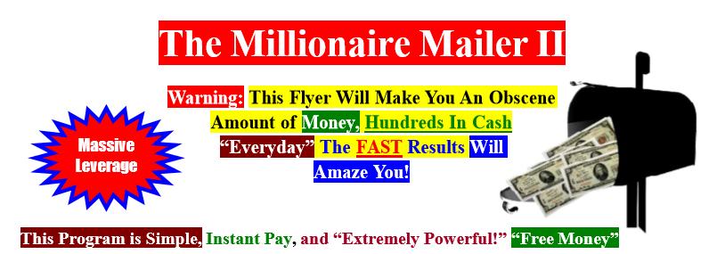 millionaire mailer