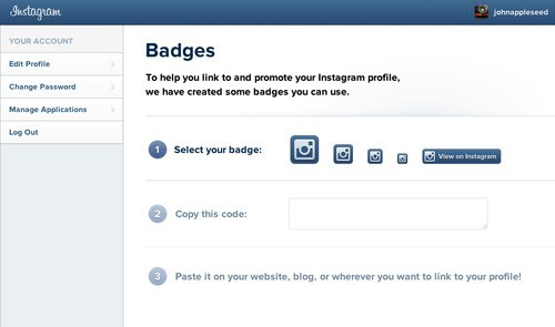 How To Add An Instagram Badge To Your Website