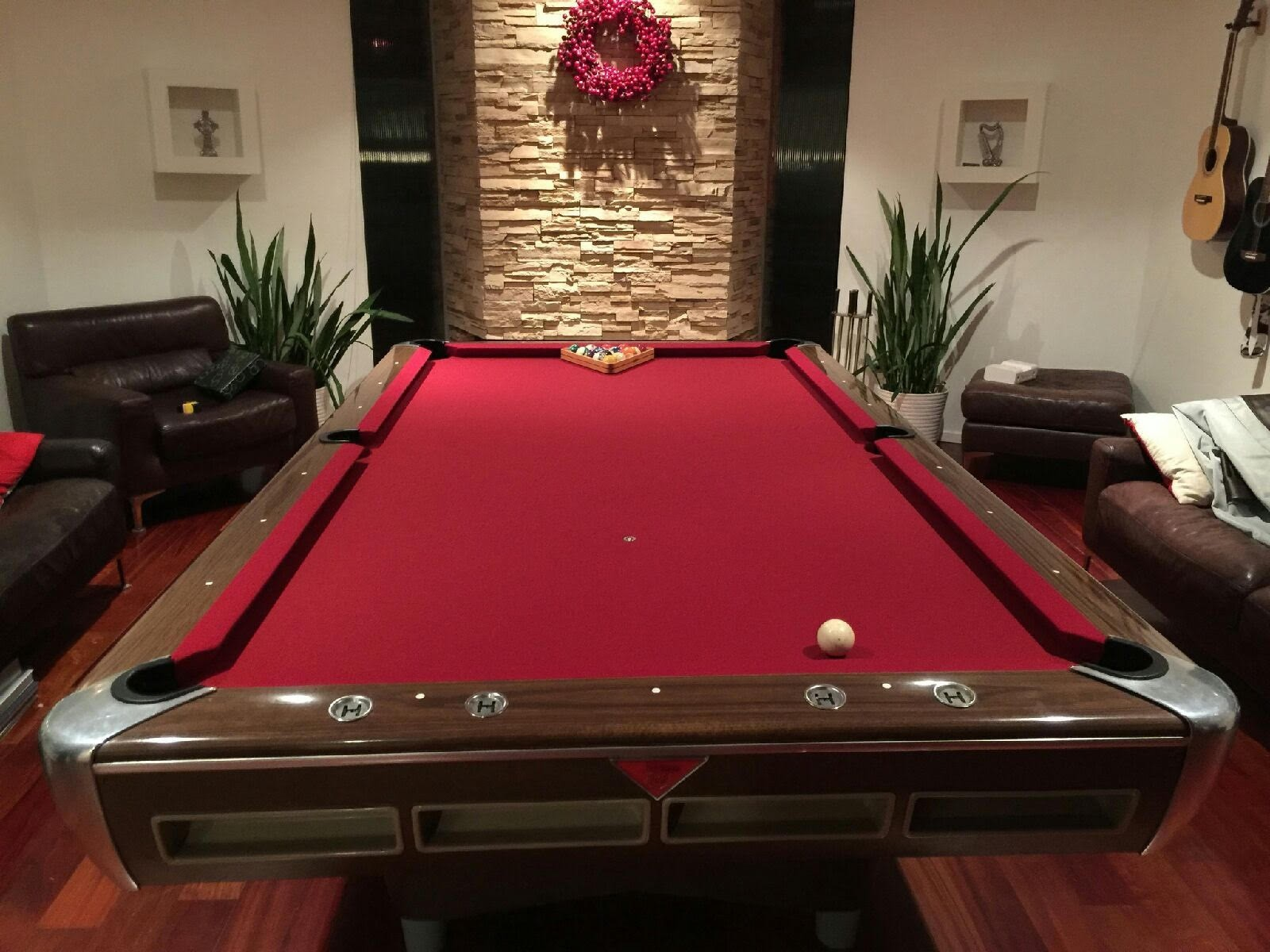 Pool Table FELT INSTALLATION Billiard Table RECOVERING - Hollywood billiard table for sale