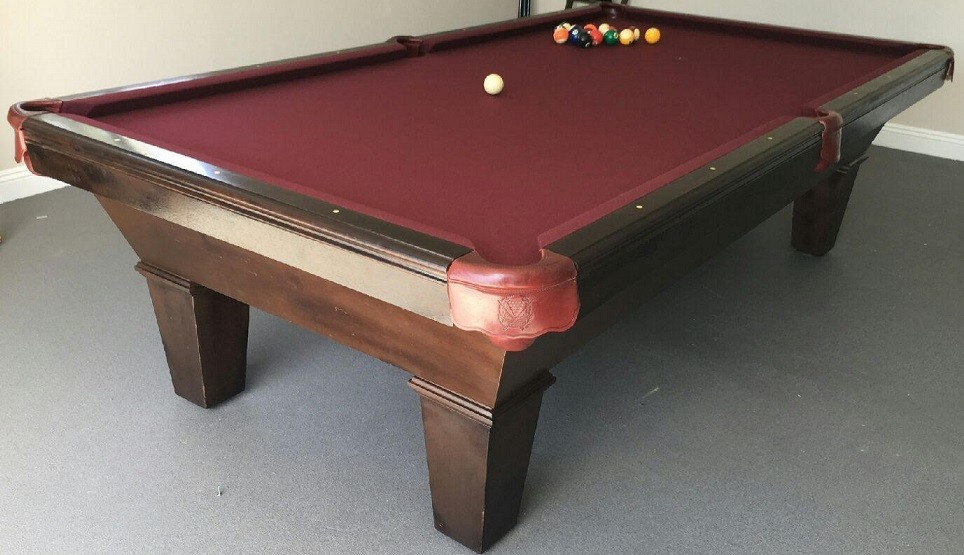 #3) BLACK REFELT 8ft Custom Made Pool Table