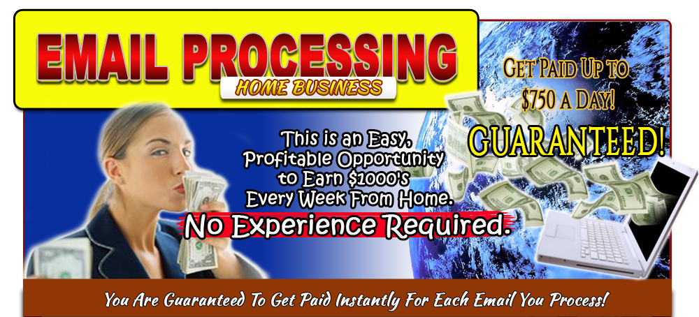 Order processing jobs from home