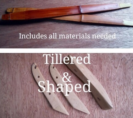 Diy bamboo bow kit already tillered only assembly required solutioingenieria Choice Image
