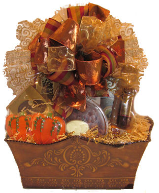 autumn, gift basket, pecans, cookies