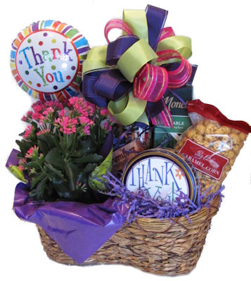appreciation thank you gift basket