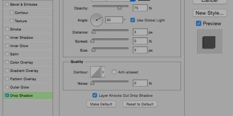 Add Shadows Using Photoshop