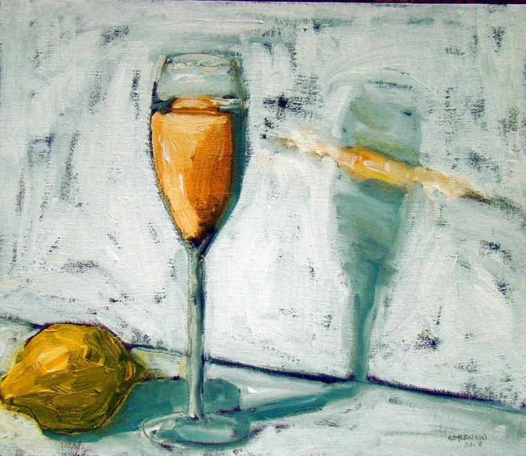 Flute and Lemon 12x14