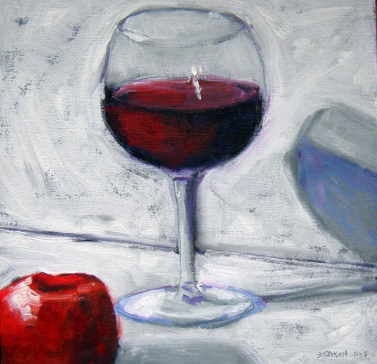 Burgundy and Apple 12x12