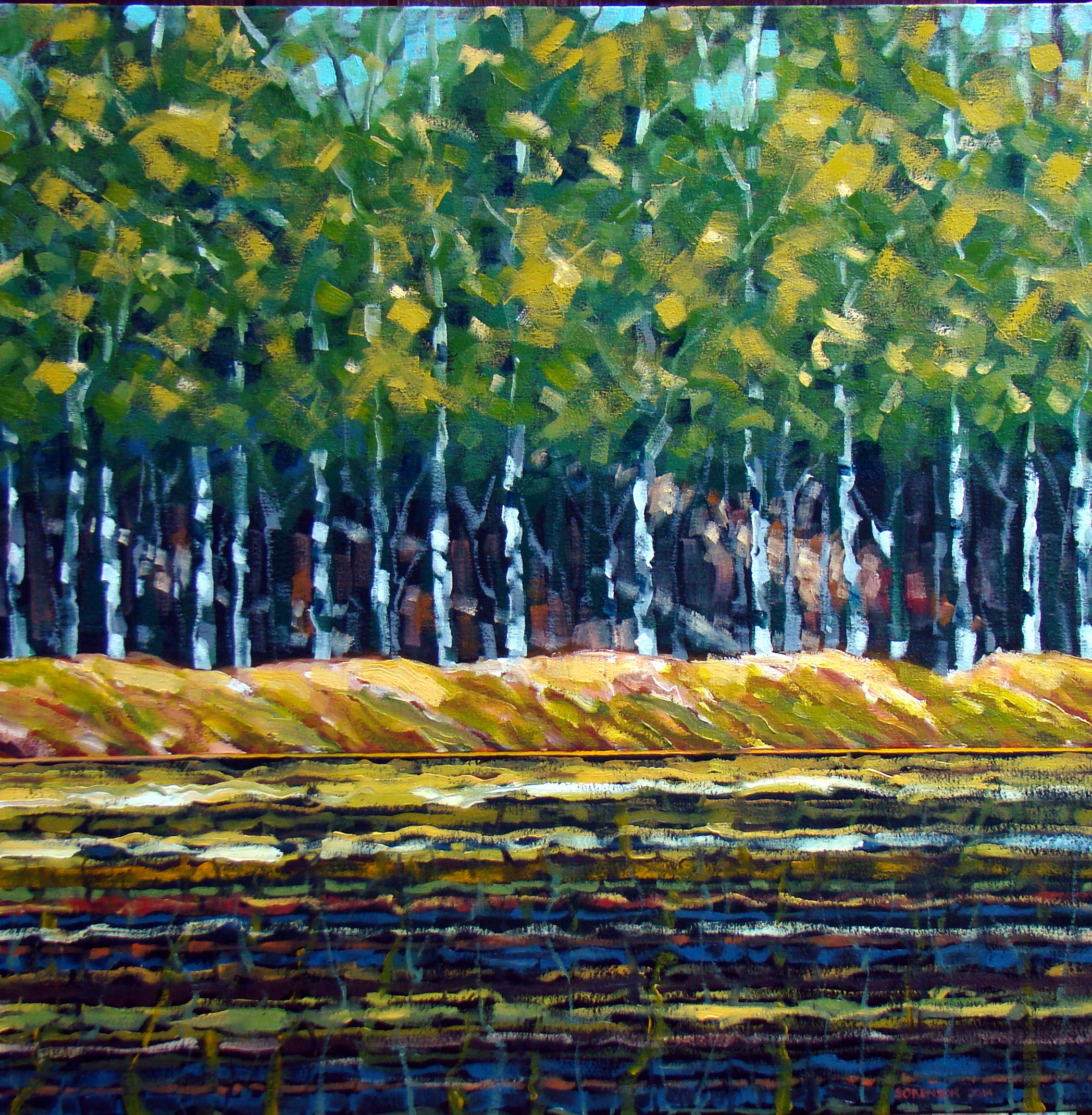 Slough/Birches 30x30