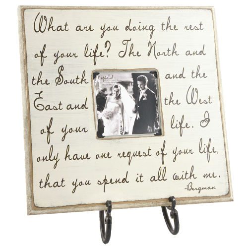 Frames with quotes