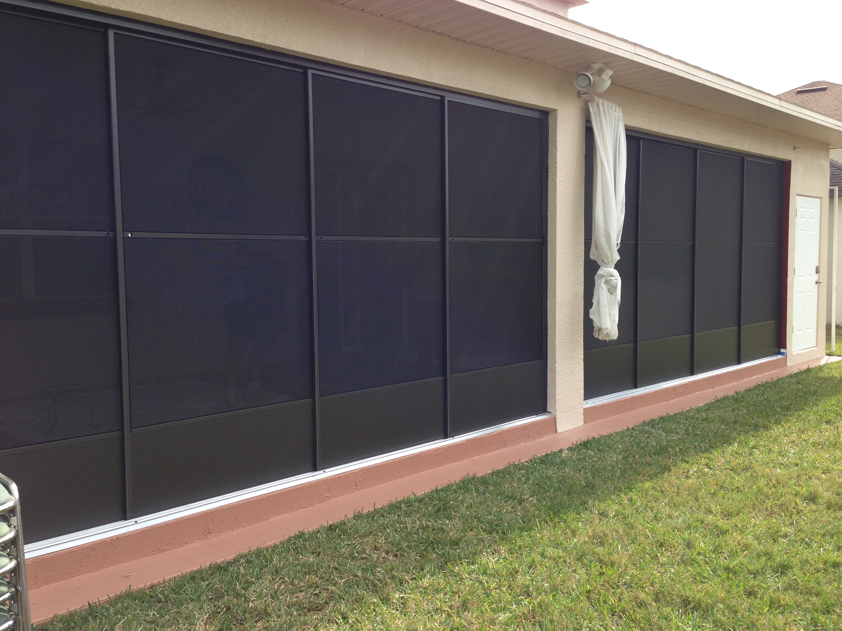 Lanai Bronze slider Door