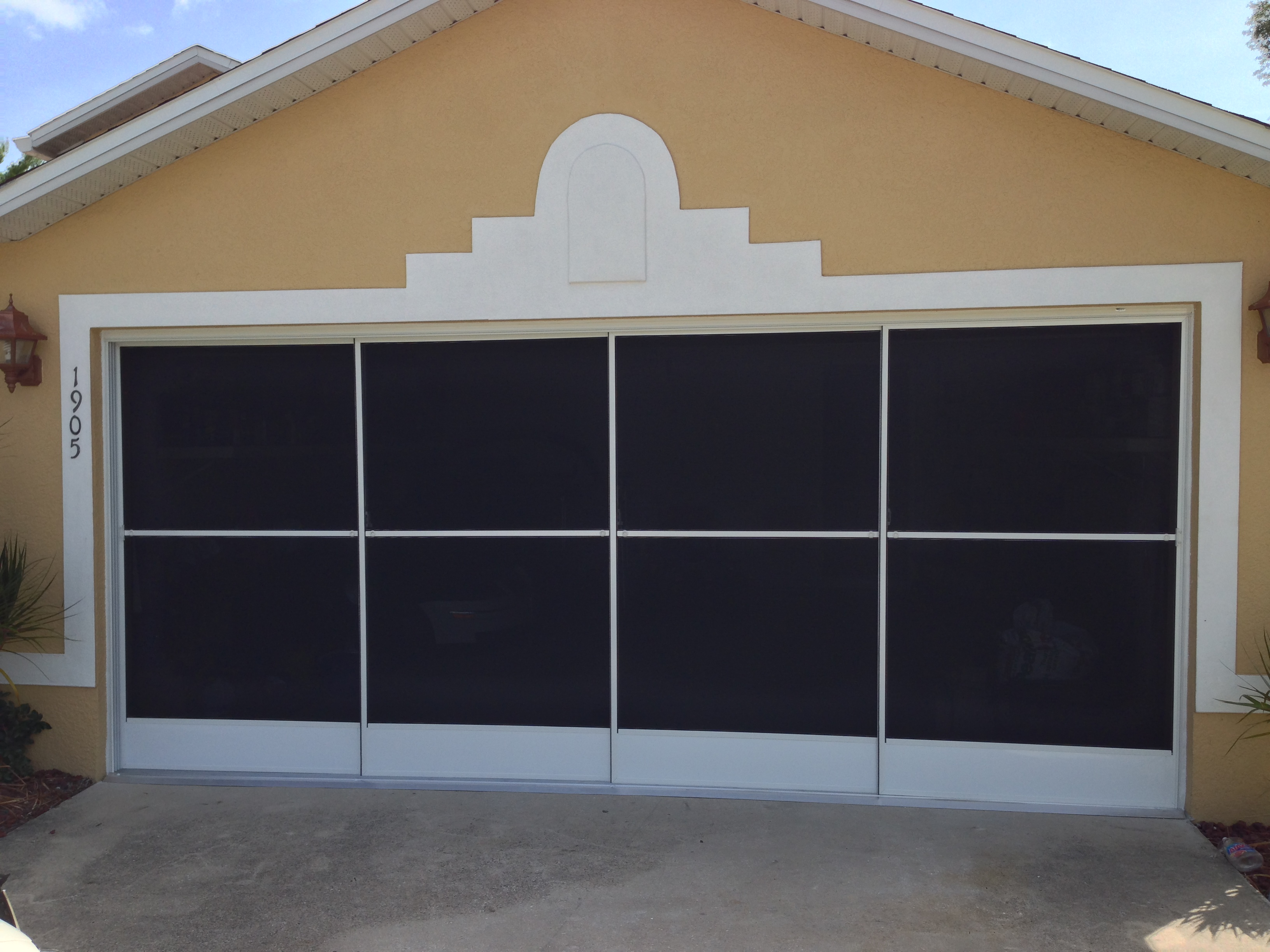 Garage Screen door white