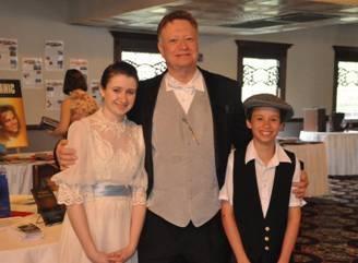 Richard with niece & nephew David
