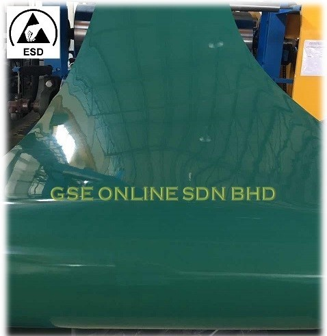 High Temperature ESD Dark Green Rubber Mat Malaysia