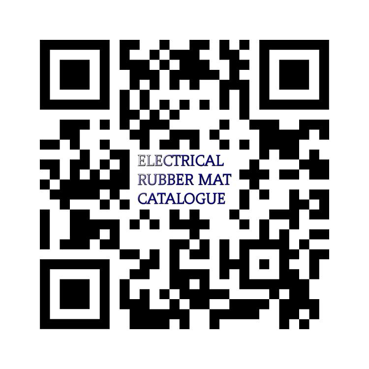 QR Code Medium Voltage Insulation Rubber Mat