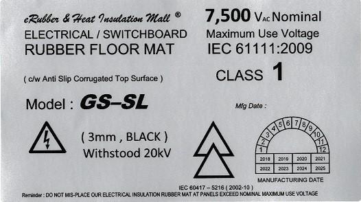 GS-SL 20kv Label Malaysia