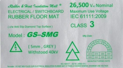 high voltage electrical insulation rubber mat label Malaysia