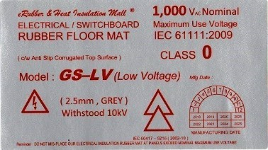 low voltage electrical insulation rubber mat label Malaysia