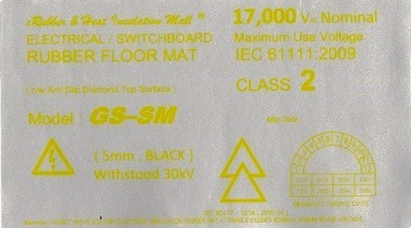 High Voltage Rubber Mat Label Malaysia