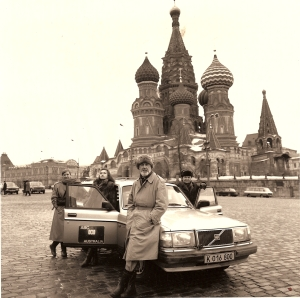 Jean and John Lombard in Red Square, Moscow