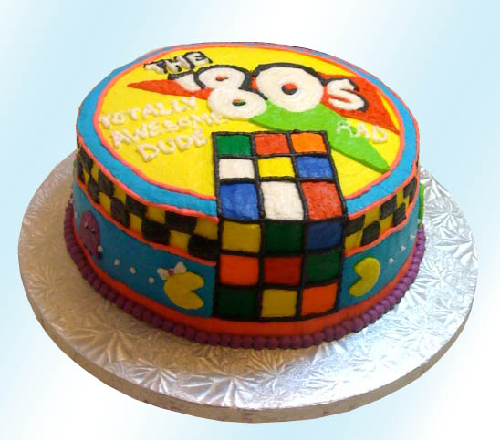 87 80s Themed Birthday Cake Ideas