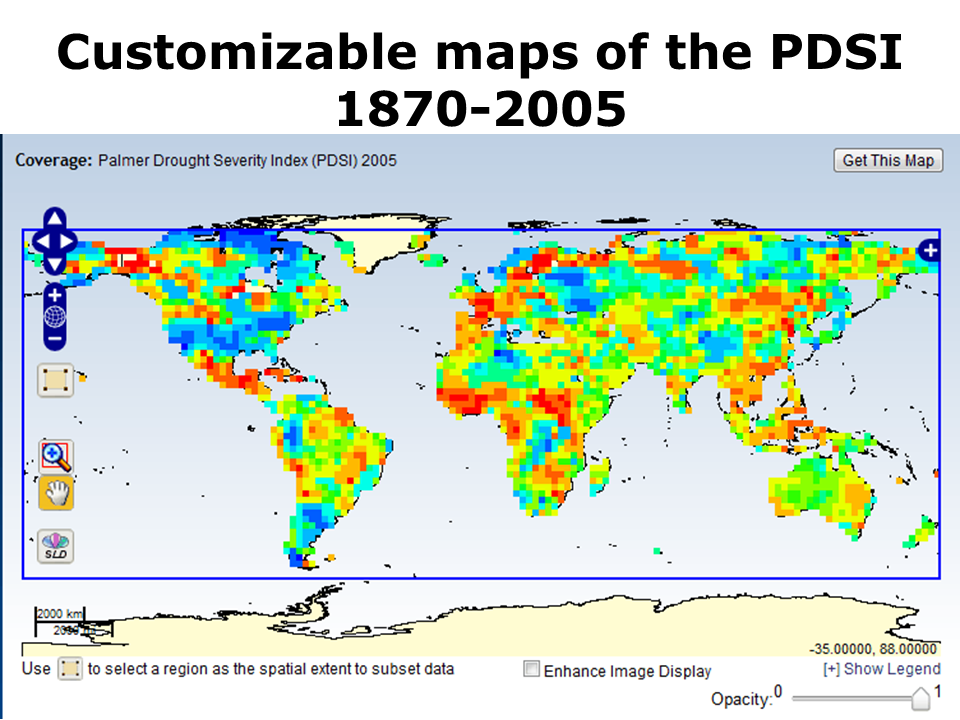- Drought severity map us