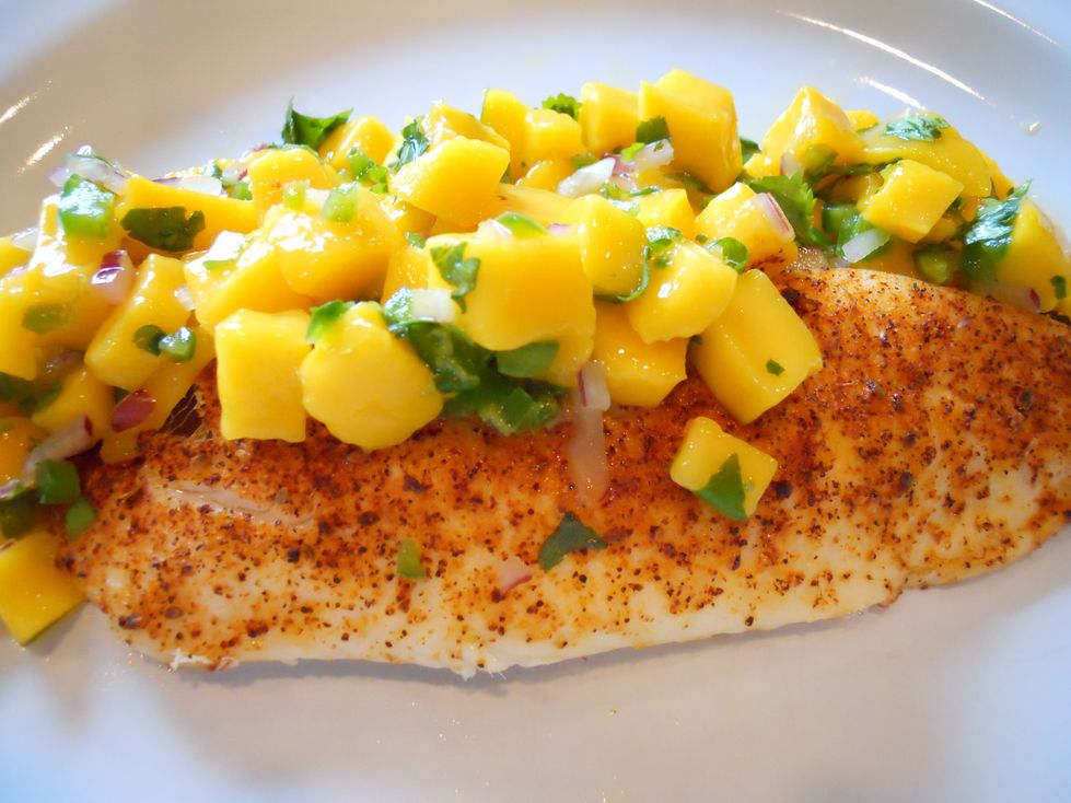 Tilapia with Mango Salsa