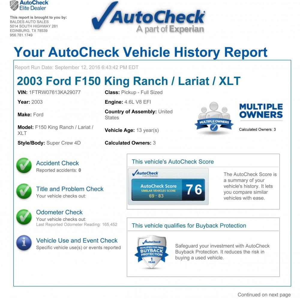 AutoCheck Report 1a