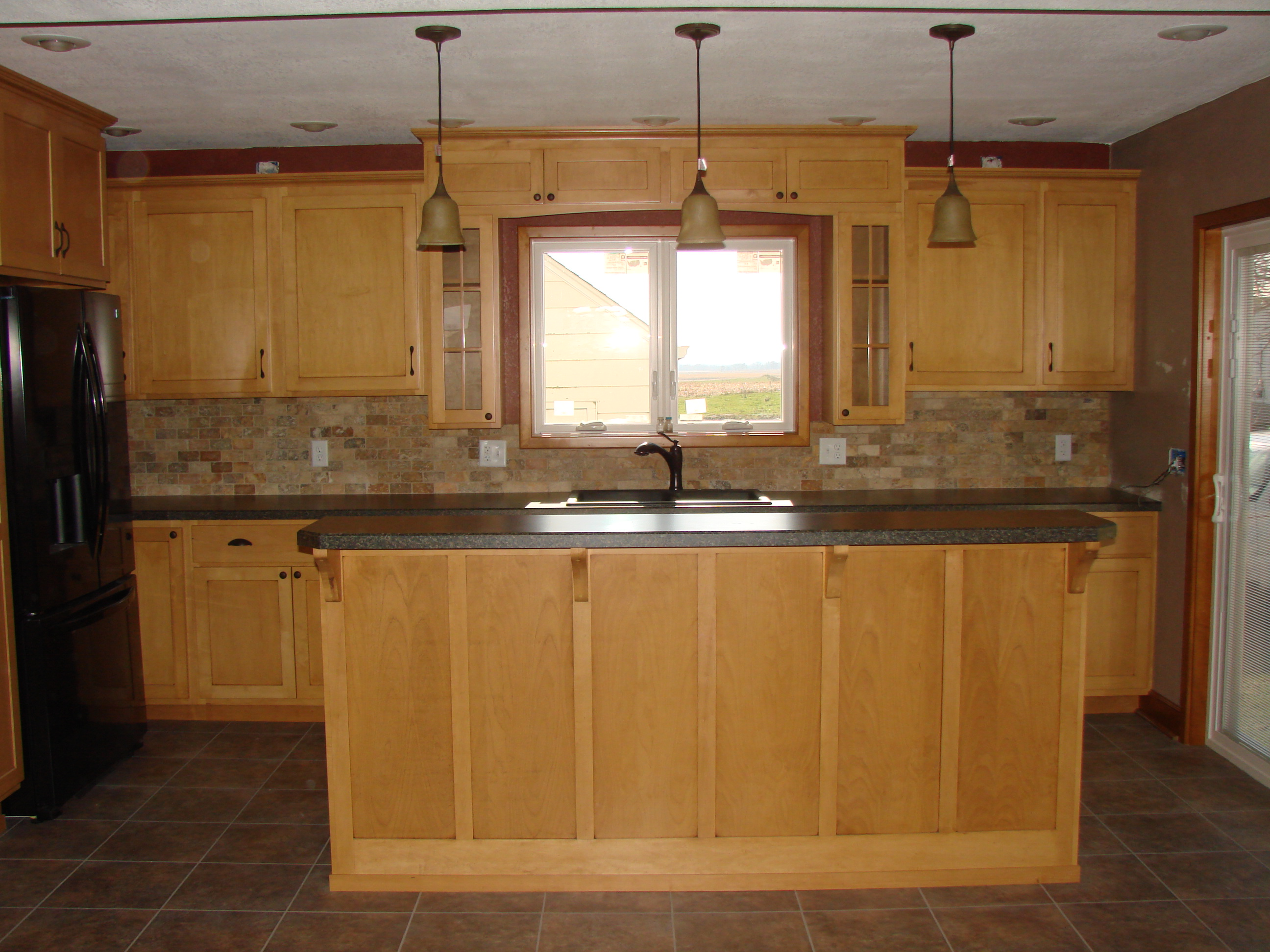 how to burner pipe wood stove countertops cabinets wooden kitchen corbels countertop about of clean white fair