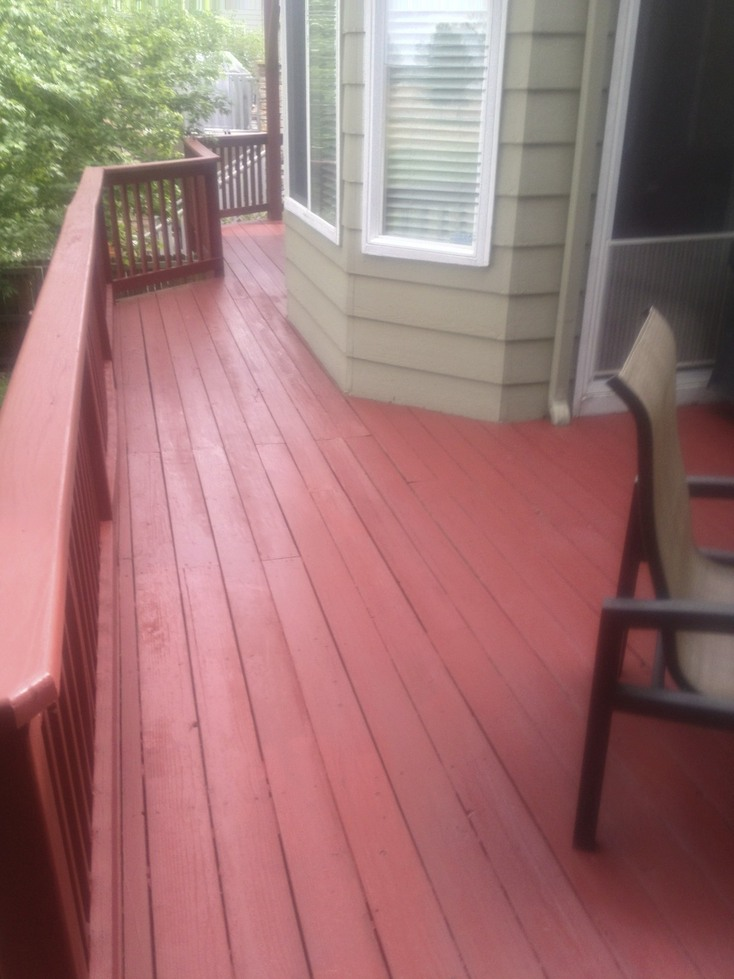 Erie Deck staining