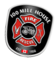 100 Mile House Fire Rescue Decal