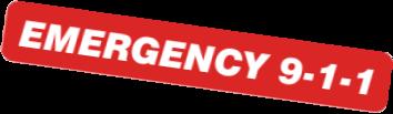 Emergency 911 Lettering