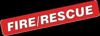 Fire Rescue Lettering