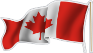 Canadian Flag Decal - Left Wave (NG-1018LF)