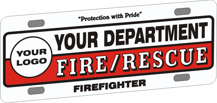 Universal Firefighter Vehicle Licence Plate - Traditional with Logo (NG-1024F)