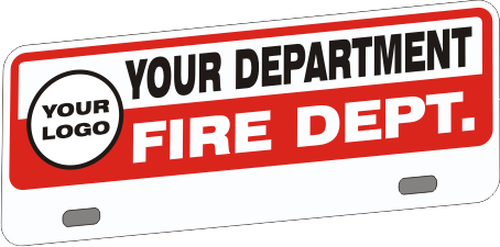 Upper Firefighter Vehicle Licence Plate - Budget with Logo (NG-1032UF)