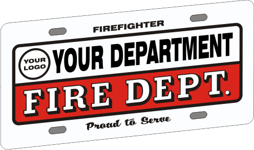 Full Size Firefighter Vehicle Licence Plate - Traditional with Logo (NG-1034F)