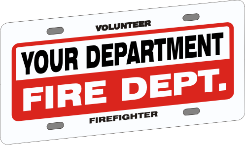 Full Size Firefighter Vehicle Licence Plate - Budget (NG-1037F)