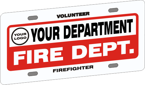 Full Size Firefighter Vehicle Licence Plate - Budget with Logo (NG-1038F)