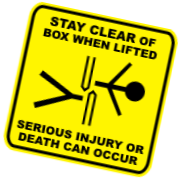Stay Clear Caution Decal