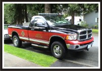 Fire Chief Pickup Truck Graphics - City of North Vancouver