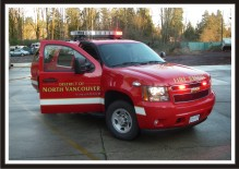 Chief Officer Fire Vehicle Graphics - District of North Vancouver