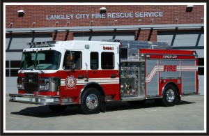Fire Truck Graphics - Langley City Engine 1