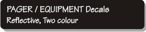 Pager - Equipment Decals - Reflecive, Two Colour