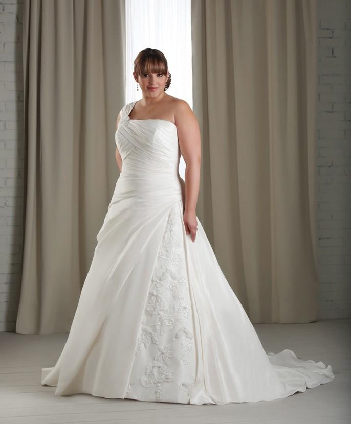 We also stock informal and destination gowns in white and ivory in plus size