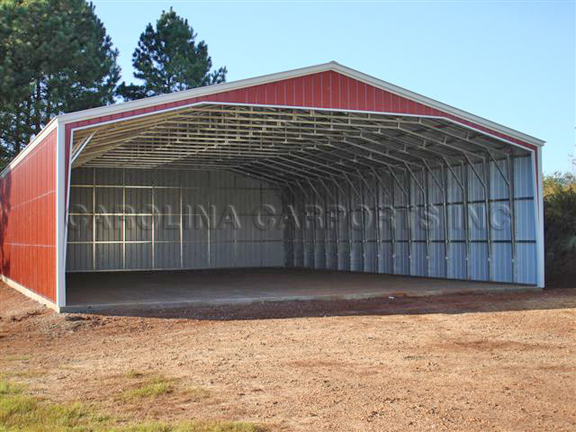 All Vertical 40 Wide Carport